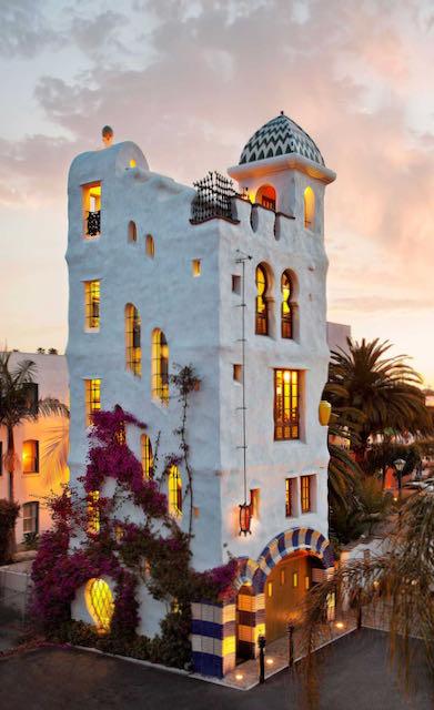 Unusual architecture in Santa Barbara