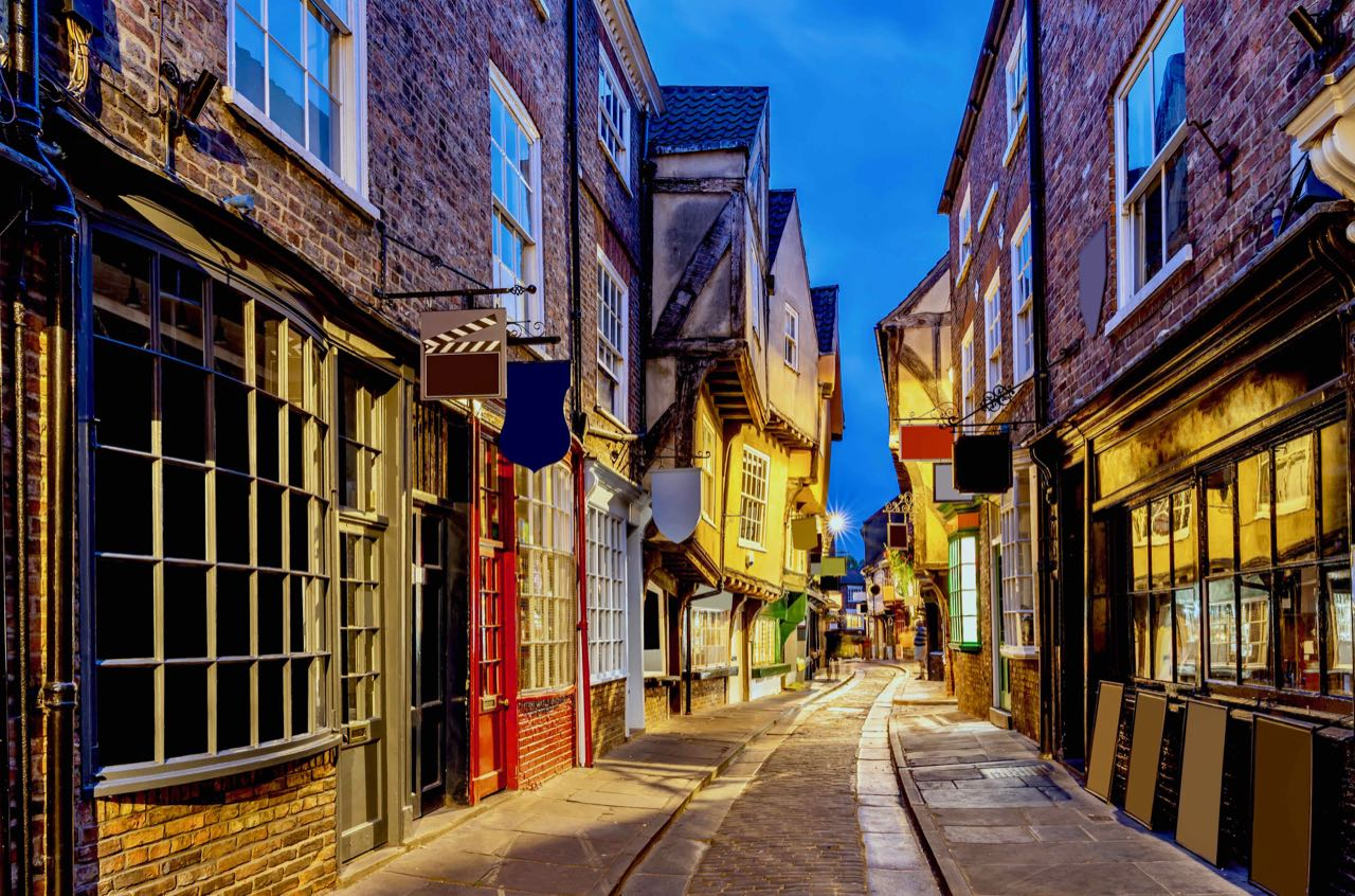 Old Town York at night